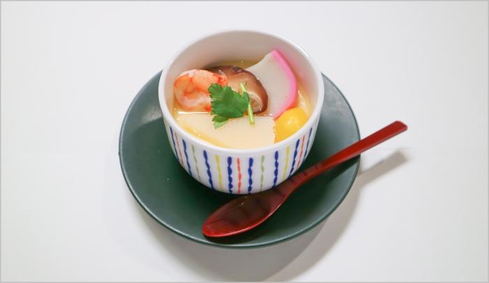 古希祝いのお祝い料理 茶碗蒸し