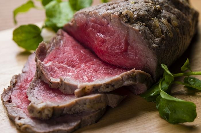 古希祝いのお祝い料理 ローストビーフ